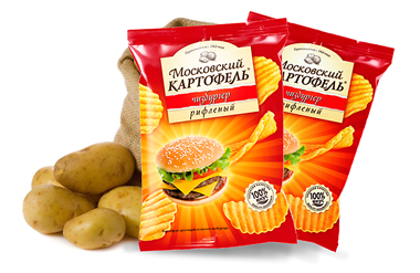 Web packaging for Moscow potato chips