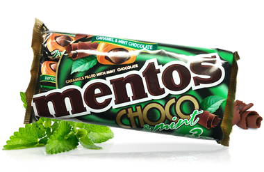 Flexible packaging for Mentos Choco snacks