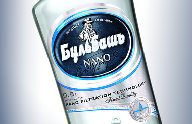Self-adhesive label for vodka